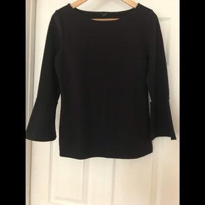 NWT Navy blouse with bell sleeves